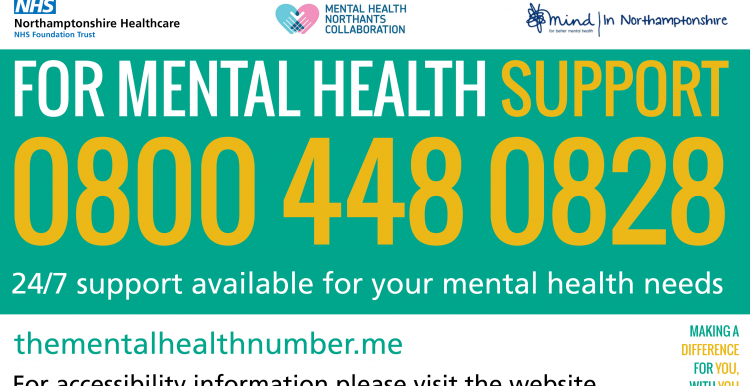 0800 448 0828 24/7 support available for your mental health needs. thementalhealthnumber.me