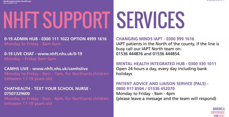 NHFT CYP support services