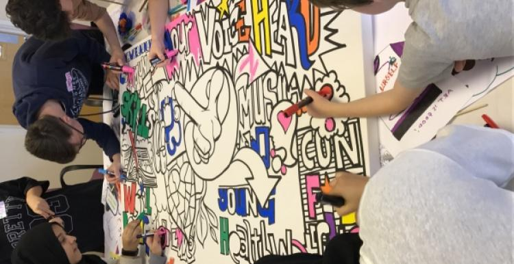 young healthwatch colouring artwork Nene Whitewater Centre