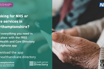 People across Northamptonshire can now benefit from quick and easy access to the latest information about local health and care services – thanks to the launch of a brand new smartphone app.