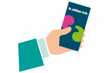 Handing a leaflet infographic