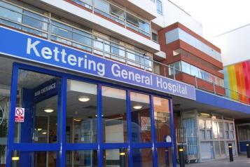 Kettering General Hospital entrance