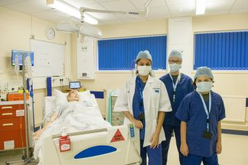 Young healthwatch at northampton general hospital's simulation suite