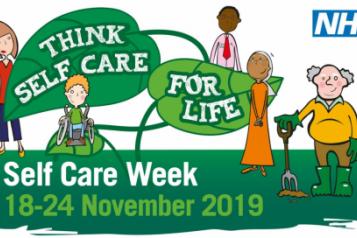 NHS. Think self care, for life. Self-Care Week (18 - 24 November 2019)