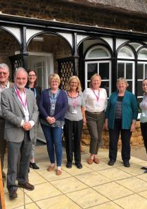 Healthwatch visit team outside St Andrew's Carers Centre
