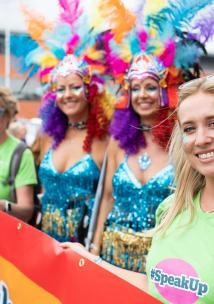 Volunteers at Pride